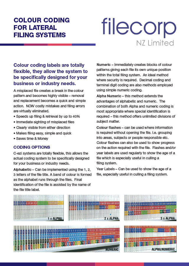 Colour Coding for Lateral Filing Systems